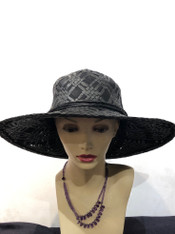 Beach Straw Hat (Black)