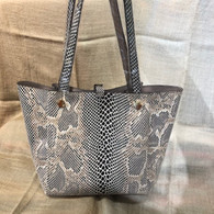 Faux Snake Skin Shoulder Bag