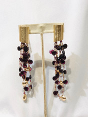 Garnet Gold Earrings