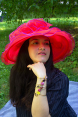 Red Summer Party Hat