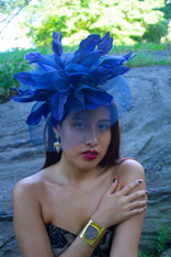 Bella Blue Fascinator