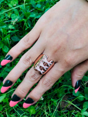 Rose Gold Chain Ring
