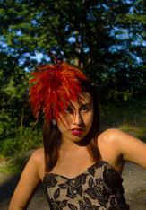 Orange Feather Headband