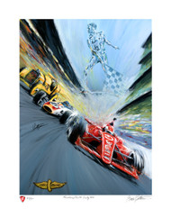 Firestone Commemorative 100th Indy 500 print, limited to only 500 pieces.