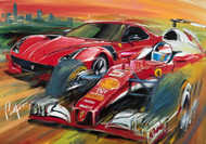 Pirelli Pzero Ferrari  Giclee on Canvas