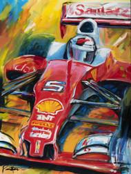 Ferrari Vettel 2016 Giclee on Canvas
