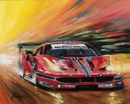 Ferrari Corsa LeMans 2016 Giclee on Canvas