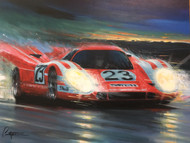 """""""Porsche's First!"""" SIGNED GICLEE ON CANVAS"""