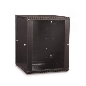 15U LINIER Swing-Out Wall Mount Cabinet - Glass Door (3130-3-001-15)