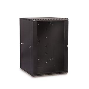 18U LINIER Swing-Out Wall Mount Cabinet - Glass Door (3130-3-001-18)