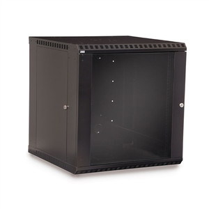 12U LINIER Fixed Wall Mount Cabinet - Glass Door (3140-3-001-12)