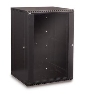 18U LINIER Fixed Wall Mount Cabinet - Glass Door (3140-3-001-18)