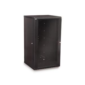 22U LINIER Fixed Wall Mount Cabinet - Glass Door (3140-3-001-22)