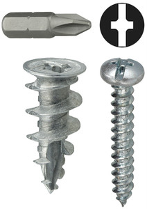 #6 Anchor Kit Wall Driller ( Zinc ) Includes Phillips