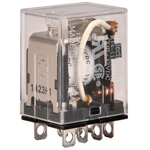 RELAY-12VDC 10AMP DPDT PLUG-IN/SOLDER TERMINALS (R14-11D10-12)