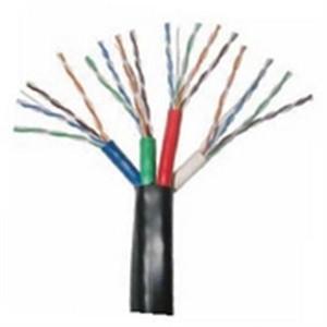 4x CAT5E 350 MHz 24 AWG UTP Cable; Bundled - Black (HNC-10)