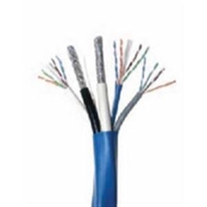 2x CAT6E 23 AWG UTP + 1x CAT5E 24 AWG UTP + 2x RG6/U Quad Shield Cable; BC; Bundled - Blue (HNC-9)