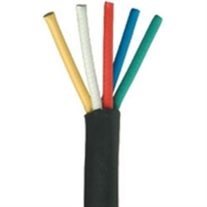 5 Conductor/Mini RG59/U 25 AWG Solid Bare Copper RGB Component Video Cable - Black (RGB-5)