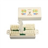 """ADAPTER, CAT6 ITOOLESS NLINE UTP 110IDC CONJUNCTION BOX, WHITE"" (NCB-6018)"
