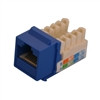 """CAT5E TOOLESS KEYSTONE JACKS, 8P8C, BLUE, UL"" (NKJ-5402)"