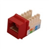 """CAT5E TOOLESS KEYSTONE JACKS, 8P8C, RED, UL"" (NKJ-5403)"