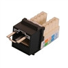 """CAT5E LOCJACK KEYSTONE JACKS, 8P8C, BLACK, UL"" (NLJ-5501)"