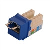 """CAT5E LOCJACK KEYSTONE JACKS, 8P8C, BLUE, UL"" (NLJ-5502)"