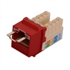 """CAT5E LOCJACK KEYSTONE JACKS, 8P8C, RED, UL"" (NLJ-5503)"