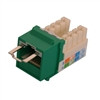 """CAT5E LOCJACK KEYSTONE JACKS, 8P8C, GREEN, UL"" (NLJ-5506)"