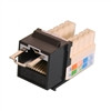 """CAT6 LOCJACK KEYSTONE JACKS, 8P8C, BLACK, UL"" (NLJ-6501)"