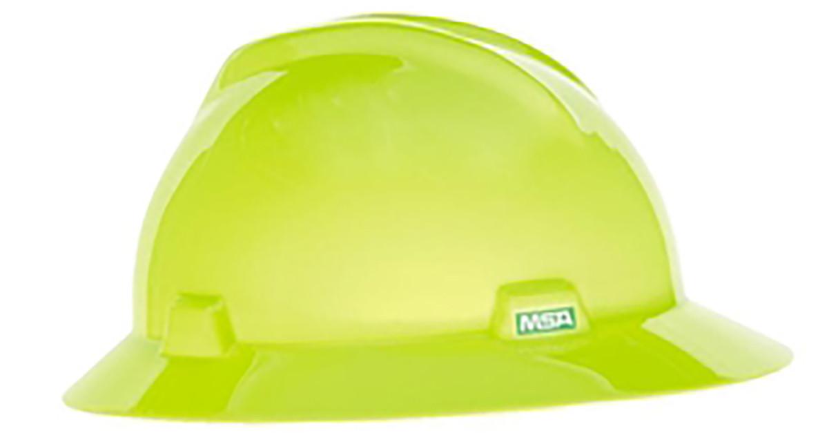 f30fade700d MSA 10061515 Heavy Duty Hi-Viz Lime V-Gard Standard Hard Hat ...