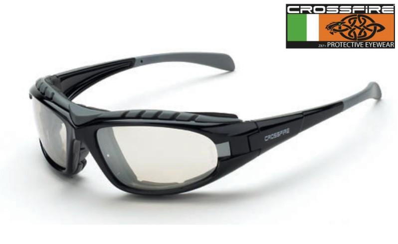 61895b5341 Crossfire 27615AF I O Safety Glasses with Clear Lens and Black Frame ...