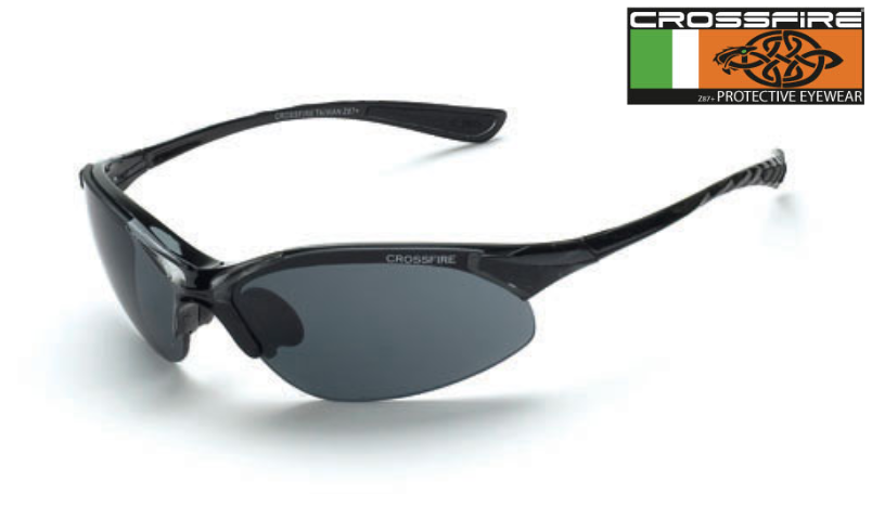 a43e012818e0 Crossfire 1541 Safety Lens with Smoke Lens with Crystal Black Frame. Price    6.25. Image 1