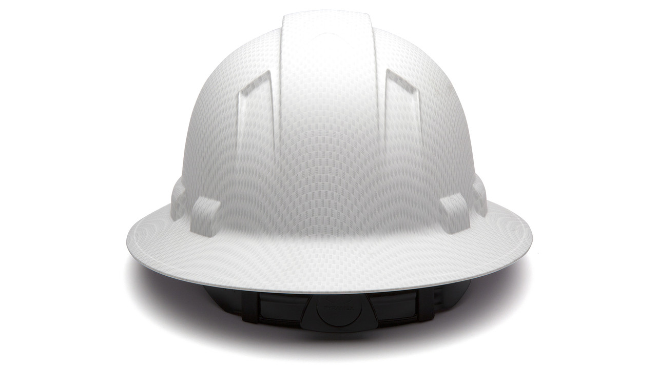 Pyramex HP54116 Matte White Full Brim Style 4-Point Standard Ratchet.  Price   29.10. Image 1. Larger   More Photos 6e426d260b70
