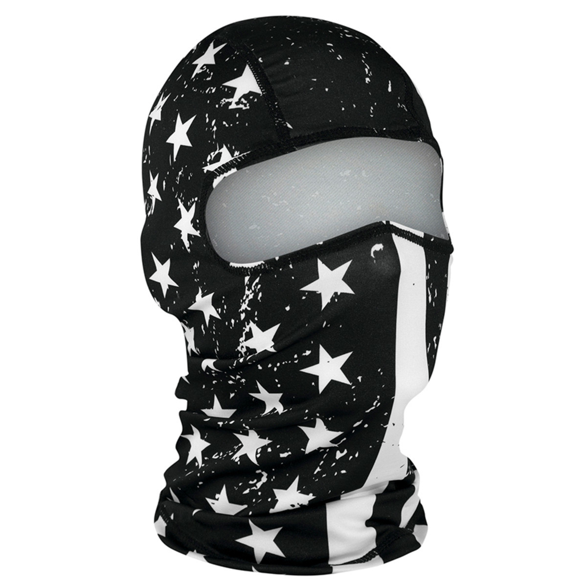 34bf1bed310 ZANheadgear WBP091 Black and White Flag Polyester Balaclava. Price   9.35.  Image 1