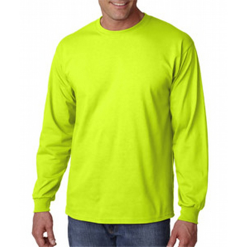e392bc71f75 Gildan G2400L Lime Mens Classic Long Sleeve T-Shirt. Price   7.47. Image 1