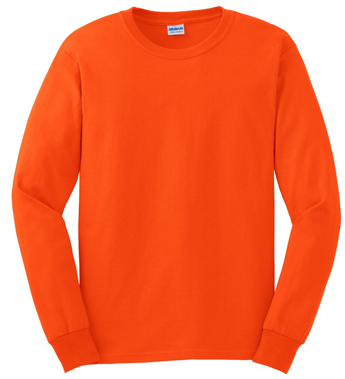 34bad95df0d Gildan G2400O Orange Mens Classic Long Sleeve T-Shirt. Price   8.58. Image 1