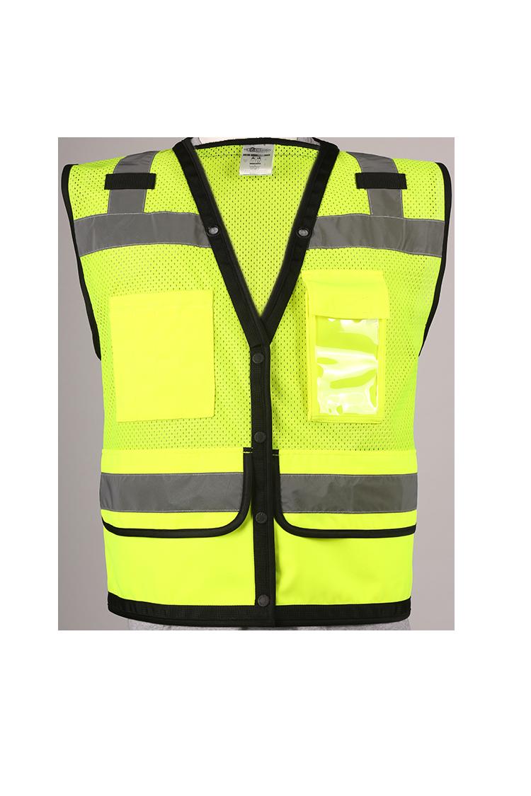 30ab3520592 ML Kishigo S5008 Class 2 Lime Surveyor Vest with Pockets and Snaps. Price    15.96. Image 1
