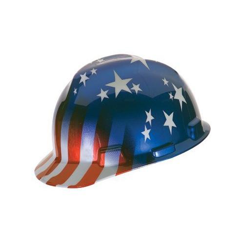 94b62468 MSA 10052945 V-Gard Patriot's Hard Hat (Cap Style)