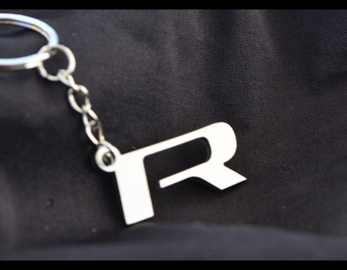Stainless Steel R performance Key Chain