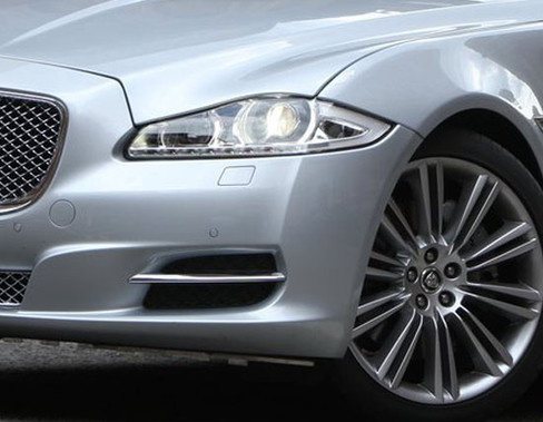 Jaguar XJ 2010-2015 OE LH Bumper Side Grille Replacement w Chrome Splitter