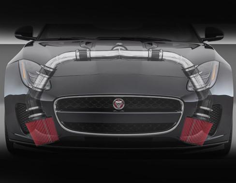 Jaguar F-Type V6 Supercharged Performance Complete Air Intake Tube & Filter Kit