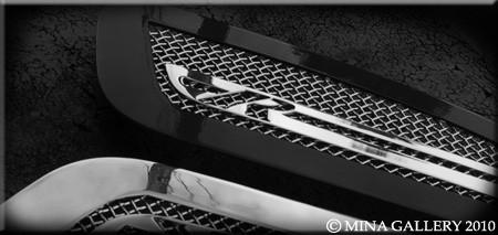 Jaguar XFR & XF Supercharged Mesh Hood Louvers (chrome or Black)