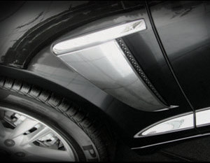 Jaguar XF & XFR Chrome Fender Louvers Finishers (2012- Newer)
