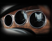 Jaguar XJ8 & XJR Chrome Dash Instrument Ring set