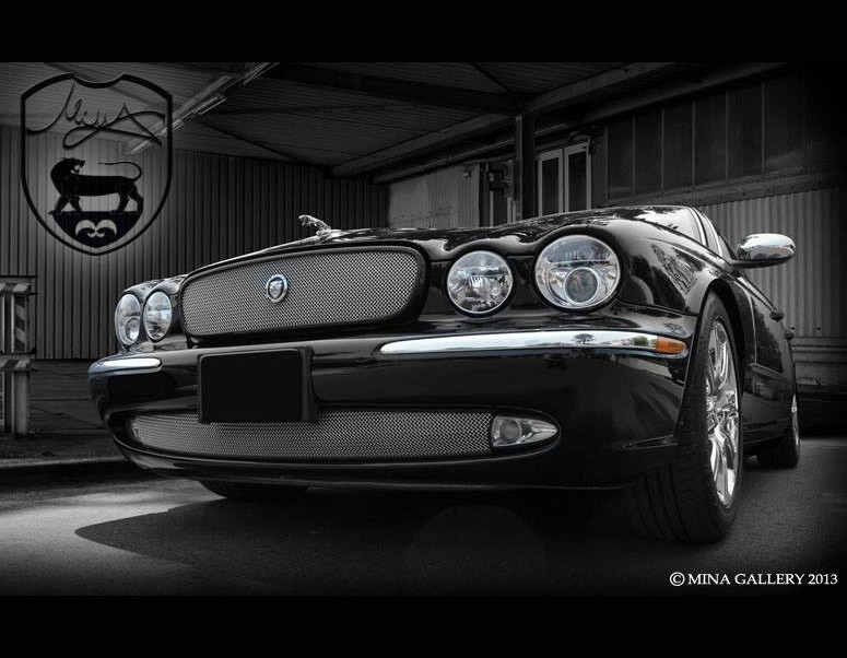 Jaguar XJ8 & XJR New Style Growler Mesh Grille embly on
