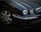 Jaguar X-Type Chrome Headlight Trim Surround set