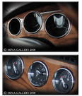 Jaguar XK8 & XKR Chrome Dash Instrument Ring set 3pcs kit