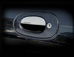 Jaguar XK8 & XKR Chrome Door Handle Trim Finisher set