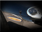 Jaguar XK8 & XKR Chrome Parking Light Trim Finisher set